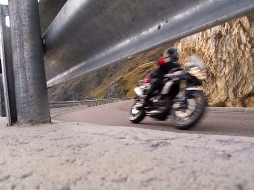 Avoiding road hazards as a motorcyclist